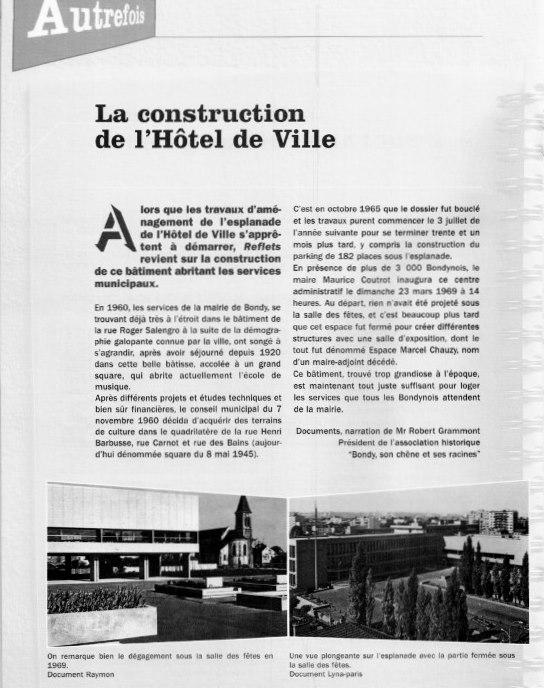 La construction de l'Hotel de Ville