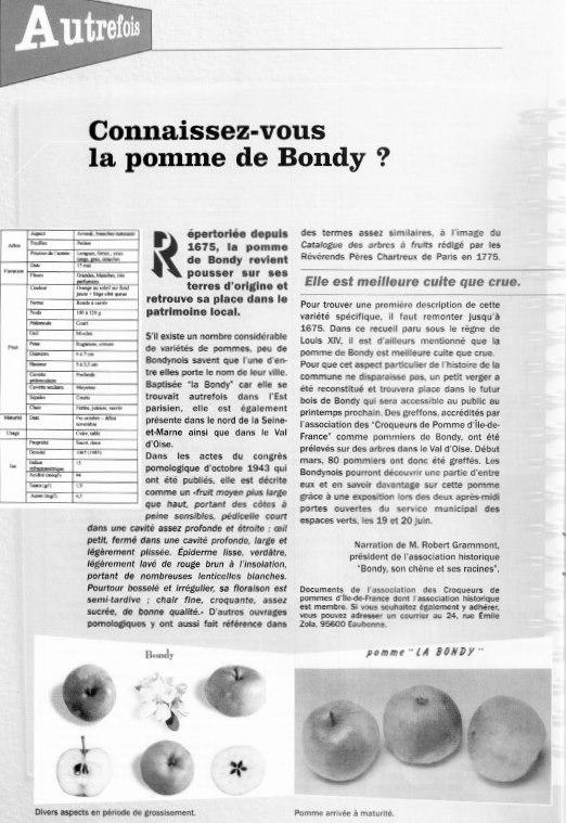 La Pomme de Bondy