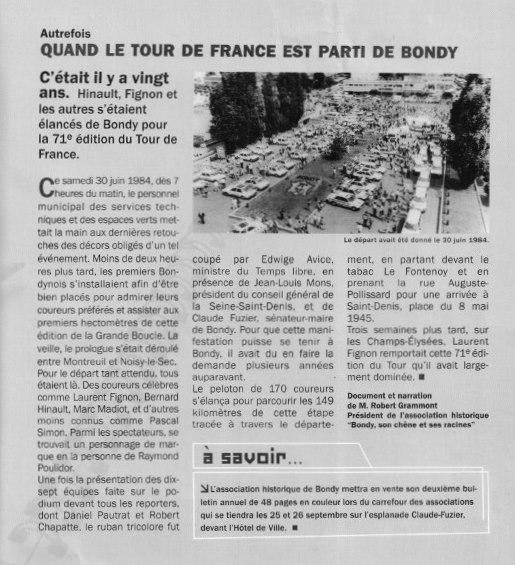 Le Tour de France à Bondy