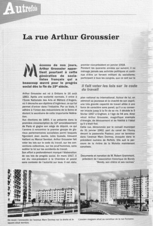 Rue Arthur Groussier