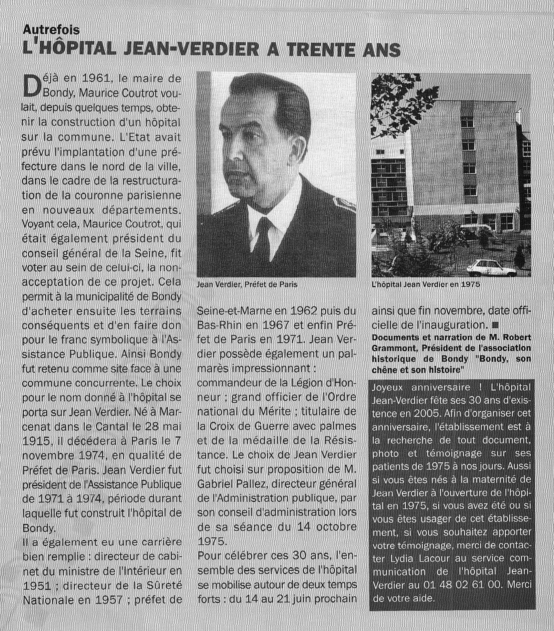 L'Hopital Jean Verdier