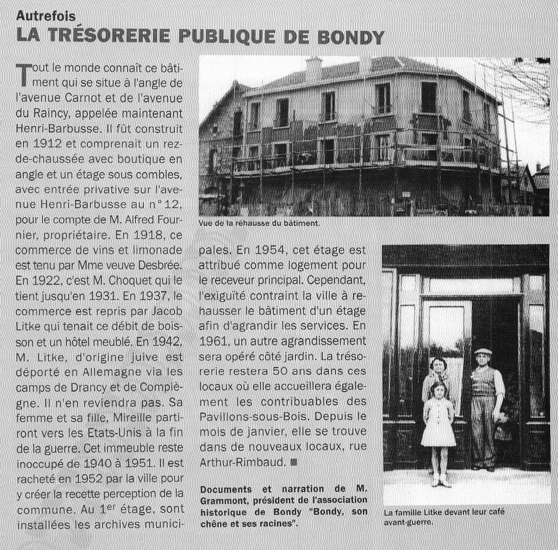 La Trésorerie de Bondy