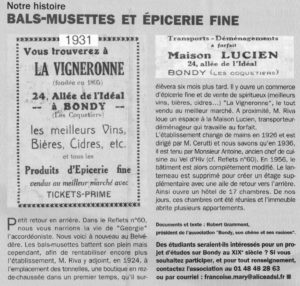 "Les Bals-Musettes"" Allée de l'Idéal"