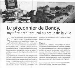 Le Pigeonnier  de Bondy
