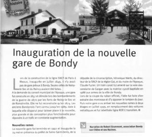 Inauguration Gare de Bondy