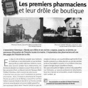 Les premiers pharmaciens à Bondy