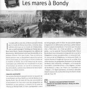 Les mares sur le territoire de Bondy