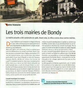 Les différentes Mairies à Bondy