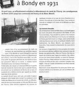 Débordement du Canal de l'Ourcq à Bondy