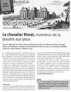 Le Chevalier Rimel - Inventeur de la poudre aux Yeux (2)