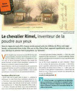 LE CHEVALIER RIMEL - INVENTEUR DE LA POUDRE AUX YEUX