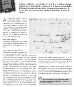 LETTRE D'UN POILU DE 1916 A UNE JEUNE BONDYNOISE