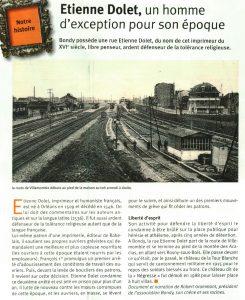 ETIENNE DOLET - UN HOMME D 'EXCEPTION POUR SON EPOQUE