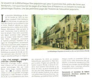 AUX ORIGINES DE LA CULTURE POUR TOUS A BONDY (1ere partie)