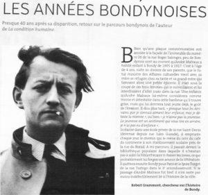ANDRE MALRAUX - LES ANNEES BONDYNOISES