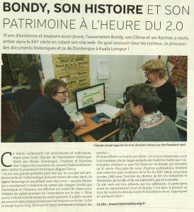 BONDY- SON HISTOIRE ET SON PATRIMOINE A L'HEURE DU 2.0
