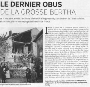 LE DERNIER OBUS DE LA GROSSE BERTHA